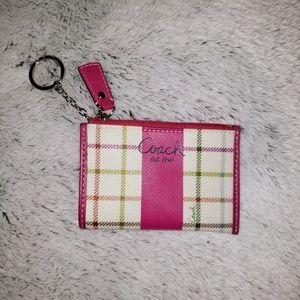 COACH Multi color mini skinny card holder